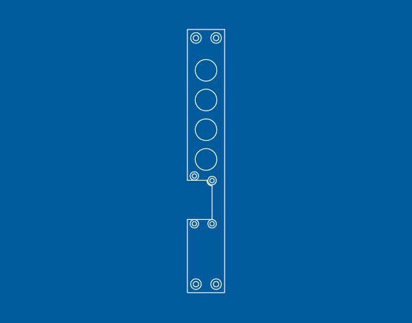 Frontali reversibili per incontri elettrici IE/F - Cipierre Serrature di sicurezza