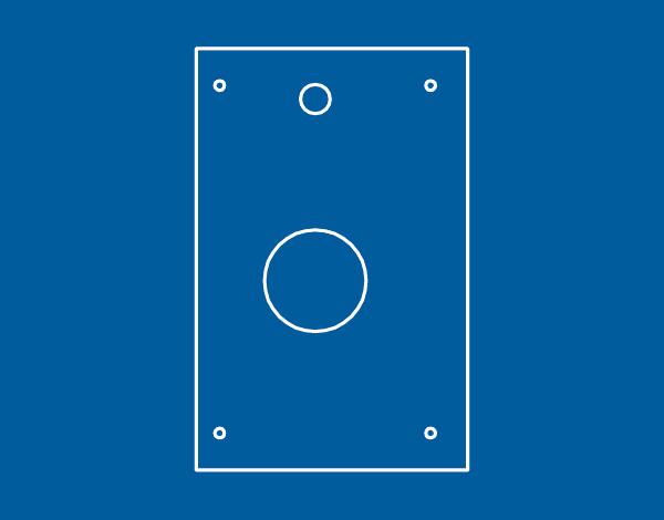Piastre posa serrature per porte blindate PIAL - PIAM - Cipierre Serrature